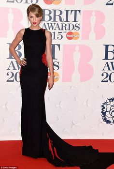 Joining in: American singer Taylor Swift, pictured at the BRIT Awards in London, has joine...