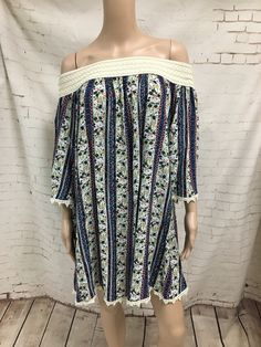 OMG Gotta have this! floral & stripe o... And you can just click here http://www.rkcollections.com/products/floralstripeofftheshoulderdress?utm_campaign=social_autopilot&utm_source=pin&utm_medium=pin