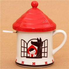 Little Red Riding Hood fairy tale cup wolf Decole Otogicco 1