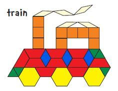 pattern block printables (you can cut and make your own shapes, too) from Jessica's Corner of Cyberspace