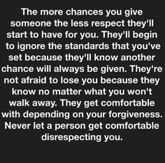 Giving too many chances...