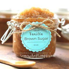 DIY Vanilla Brown Sugar Scrub Recipe
