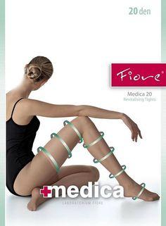 Fiore Medica 20 anti-cellulitis panty Zwart | Fiore