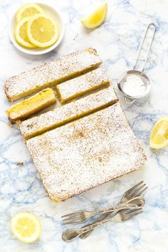 rosemary lemon bars - barrette al limone e rosmarino