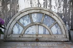Old Arched Window - architectural salvage. Build one out of sticks for side of barn.
