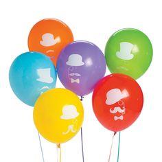 "Flashy Stache 11"" Latex Balloons"
