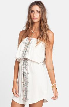 Billabong 'Ocean Babe' Strapless Dress available at #Nordstrom