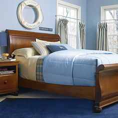 Brighton Full Sleigh Bed in Saddle Brown from PoshTots
