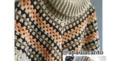 Canto do Pano Artesanato: Poncho Crochê com receita e dicas