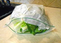 Mettez du sopalin dans la salade pour la conserver plus longtemps