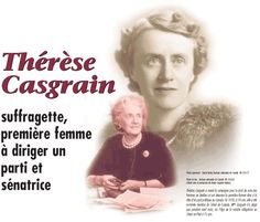 Thérèse Casgrain- Première femme à diriger un parti et sénatrice Lionel Groulx, Robert Charlebois, Article Search, Jean Marie, Lesage, Perspective, Insight, Inspirational, Simone De Beauvoir