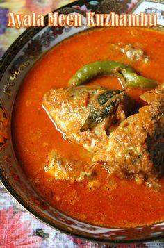 Ayala Meen Kuzhambu Recipe / Ayila Meen Kulambu / Mackerel Fish Curry Recipe