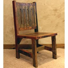 Nice Black Mountain Reclaimed Rustic Wood Dining Room Chair By Timber Designs
