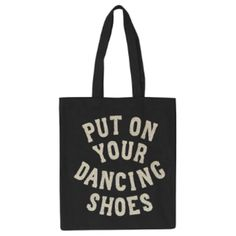 Put On Your Dancing Shoes - Canvas Tote Bag ($22) ❤ liked on Polyvore featuring bags, handbags, tote bags, tote bag purse, canvas tote, canvas handbags, colorful totes and glitter purse