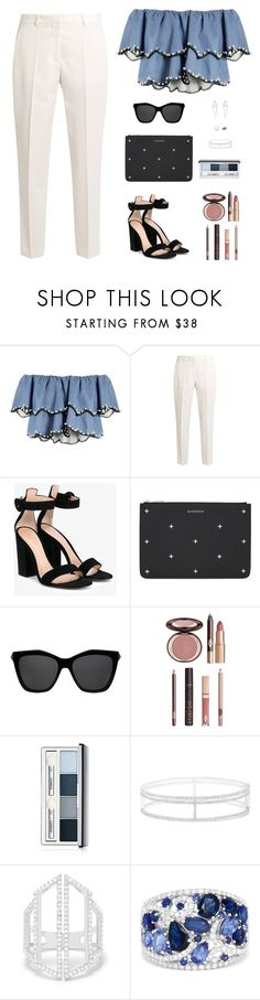 """Sin título #4810"" by mdmsb on Polyvore featuring moda, HUISHAN ZHANG, STELLA McCARTNEY, Gianvito Rossi, Givenchy, Charlotte Tilbury, Clinique y Effy Jewelry"