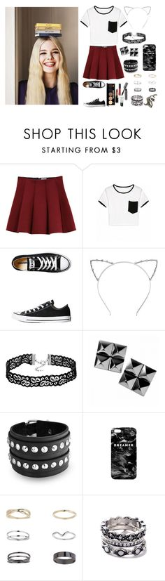 """""""Melanie - rtd - Jail 501"""" by littlenerd10 ❤ liked on Polyvore featuring Outstanding Ordinary, Converse, Bobbi Brown Cosmetics, CO, Waterford, Bling Jewelry, Mr. Gugu & Miss Go and Miss Selfridge"""