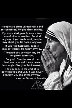 Mother Teresa quotes of wisdom