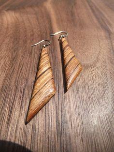 Zebrawood earrings