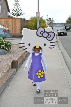 Family Friday: Homemade Hello Kitty Costume (with DIY Instructions) | Chocolate Hair / Vanilla Care