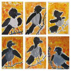Nämä tein syksyllä 2019 2 C n kanssa. Art Drawings For Kids, Art For Kids, Crafts For Kids, Arts And Crafts, Kindergarten Art, Art Lessons Elementary, Painting For Kids, Community Art, Preschool Activities