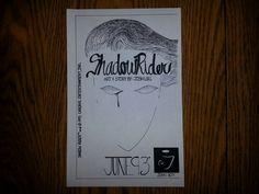 "Photocopy of final ""Shadow Rider"" comic cover. Ms.J. Senior year."