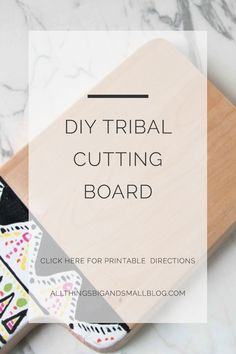 Do you love budget friendly decor? Me too! Here is a complete step-by-step tutorial on creating your own budget-friendly tribal inspired cutting board. Adding decor to your house doesn't need to be expensive! Click this and go to All Things Big And Small Blog, where I share my latest budget-friendly decor projects and home improvements! Join our newsletter and gain access to our entire library, where you can print tons of DIY instructions!