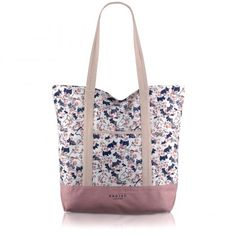 Cherry Blossom Dog, Large Tote