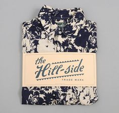 The Hill-Side Short-Sleeve Shirt, Washed Linen Floral Print, Navy