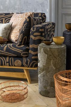 Decor of the origines collection inspired by aboriginal art here - Pierre frey rue du mail ...