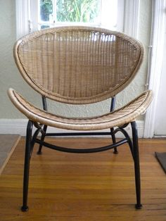 Mid Century Modern Rattan Chair : I Found A Dilapidated Chair Just Like  This In An Alley Near My Home...now Just Need To Figure Out What To Do With  The Seat ...