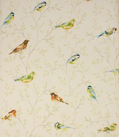 Garden Birds fabric - Just Fabrics