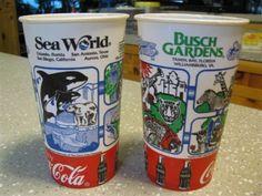 Retro SeaWorld Coca Cola cups     www.seafun.com
