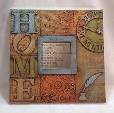 My Artistic Journey.: Coventry/Bristol Workshop Sample - all will be rev. Painting Words, Fabric Painting, Altered Books, Altered Art, Inka Gold, Chalky Paint, Altered Canvas, Arte Country, Decoupage Vintage