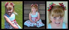 Cherry Hair Bow Tutorial  --- Choose a favorite outfit and make gorgeous bows to match it perfectly! Find the ribbon and decorative button that match just right and start the fun. This boutique style bow was inspired by a blue polka dot cherry sundress.