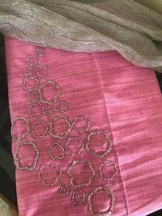 For Order, Call or Whatsapp on or visit insta page WOMN CLOTHING. we are designer studio specialized in custom designer dresses. No CASH ON DELIVERY, worldwide delivery. Embroidery On Kurtis, Hand Embroidery Dress, Kurti Embroidery Design, Embroidery Neck Designs, Bead Embroidery Patterns, Embroidery On Clothes, Embroidery Suits, Beaded Embroidery, Embroidery Works