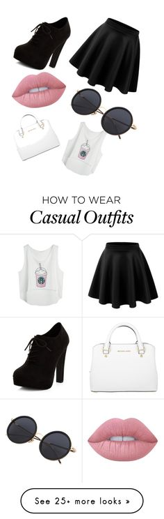"""Casual!"" by soyflor2311 on Polyvore featuring New Look, Lime Crime and Michael Kors"