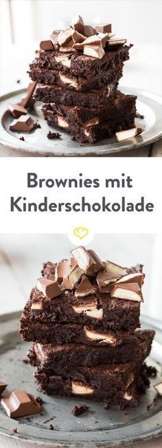 1 basic recipe, 9 brownie recipes to melt 1 Grundrezept, 9 Brownie Rezepte zum Dahinschmelzen Do you know Milky and Schoki? The two characters from the Kinder Riegel advertising? Along with juicy brownies, it& a pretty tempting endeavor. Baking Recipes, Cake Recipes, Dessert Recipes, Fudge Recipes, Breakfast Recipes, Dinner Recipes, Food Cakes, Fall Desserts, Brownie Desserts