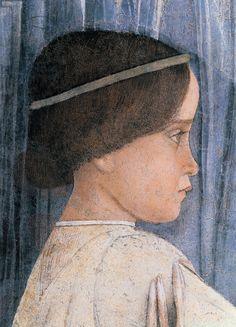 Andrea Mantegna, Decoration of the Camera degli Sposi ( profile of Sigismondo Gonzaga), 1465 - 1474 (fresco and dry tempera) Palazzo Ducale