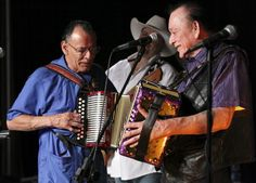 Santiago Jimenez Jr. (left) and his brother Flaco Jimenez perform during the Tejano Conjunto Festival Sunday, May 20, 2012 at Rosedale Park. Photo: EDWARD A. ORNELAS, San Antonio Express-News / © SAN ANTONIO EXPRESS-NEWS (NFS)