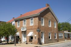 The Old Brick Restaurant - the oldest building west of the Mississippi River; Ste. Genevieve, Missouri