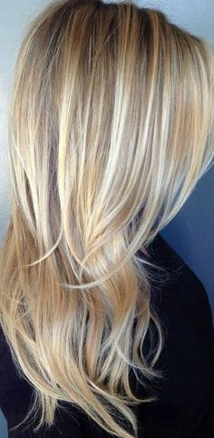 Blonde Highlights + Long Layers