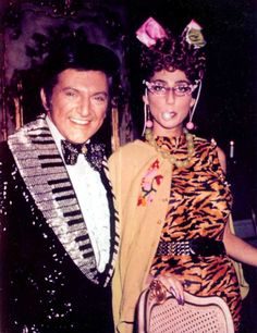 Cher (as Laverne, with Liberace!)