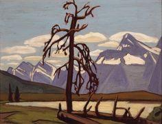 Lawren Harris, Athabasca Valley, Jasper Park, Oil on panel. Mountain Art, Mountain Landscape, Landscape Art, Landscape Paintings, Oil Paintings, Group Of Seven Artists, Group Of Seven Paintings, Canadian Painters, Canadian Artists