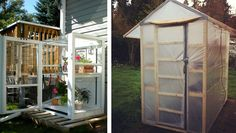 7 DIY small greenhouse ideas: With some creativity (and possibly stuff you already have on hand) you can make your own mini greenhouse. #garden #DIY
