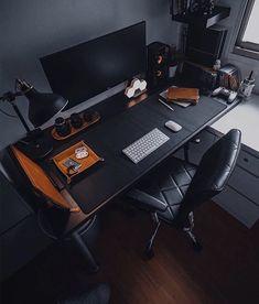 Home Studio Setup, Home Office Setup, Home Office Design, House Design, Gaming Room Setup, Desk Setup, Bedroom Setup, Game Room Design, Workspace Inspiration
