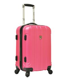 Take a look at this Pink Cambridge 20'' Wheeled Carry-On by Traveler's Choice Travelware on #zulily today!