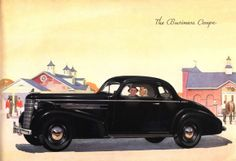 1937 Oldsmobile Eight Business Coupe Old Cars, Ads, Advertising, Album, Brochures, Business, Commercial, American, Cutaway