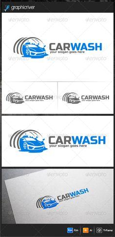 Car Wash Logo Templates — Vector EPS #automotive logo #car wash • Available here → https://graphicriver.net/item/car-wash-logo-templates/6400234?ref=pxcr