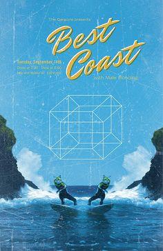 Best Coast gig poster design