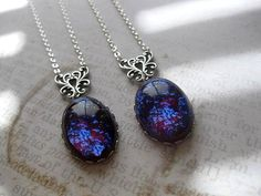 Dragons Breath Opal Necklace Fire Opal Fantasy Jewelry